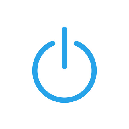 turn on: Power icon, modern minimal flat design style, OnOff switch vector symbol