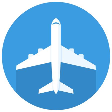 passenger plane: Airplane icon, modern minimal flat design style, plane vector illustration Illustration