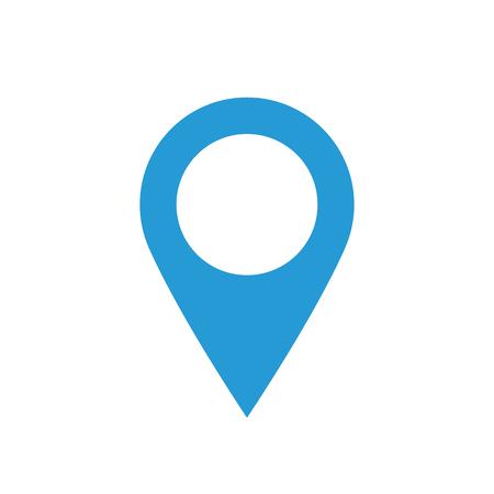 マップ ポインターのアイコン、ミニマルなフラット デザイン スタイル、マーカー ベクトル シンボル