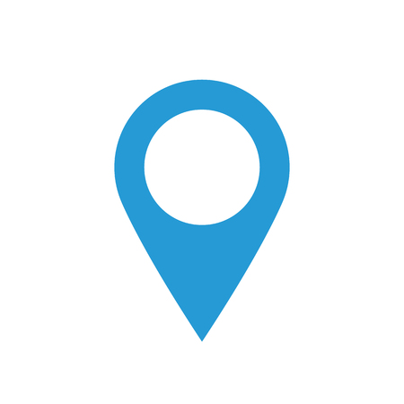 Map pointer icon, minimal flat design style, marker vector symbol