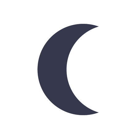 Moon icon, minimal flat design style, vector illustration