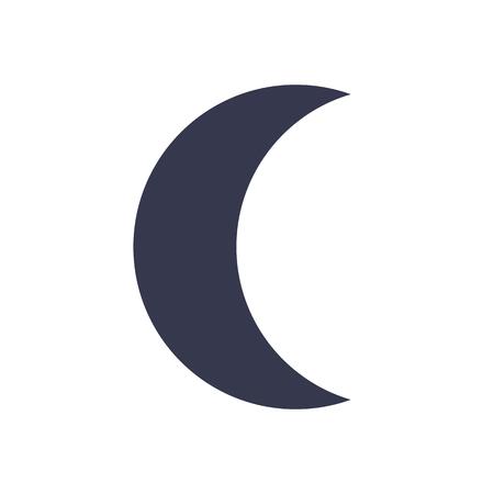 crescent: Moon icon, minimal flat design style, vector illustration Illustration
