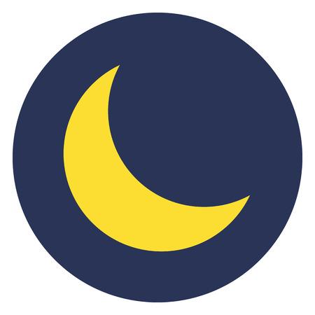 Moon icon, modern minimal flat design style, vector illustration
