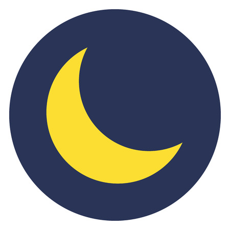 Moon icon, modern minimal flat design style, vector illustration