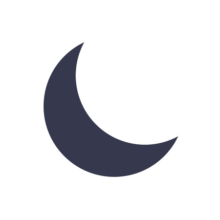 Moon icon, minimal flat design style, vector illustration 矢量图像