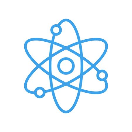 Atom icon, modern minimal flat design style. Vector illustration, science symbol Illustration
