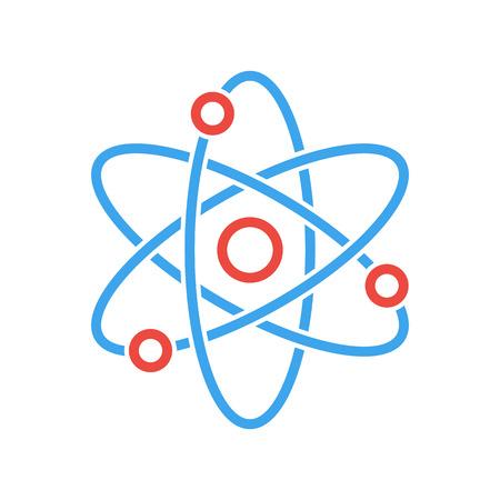 Atom icoon, modern minimalistisch platte design stijl. Vector illustratie, wetenschap symbool