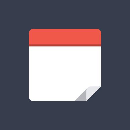kalendarz: Ikona Kalendarz, nowoczesny design w stylu minimal płaskim. Pusty kalendarz ilustracji wektorowych