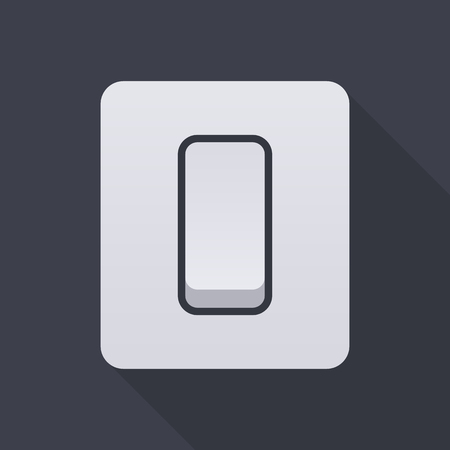 Light switch icon, modern minimal flat design style, vector illustration Ilustração