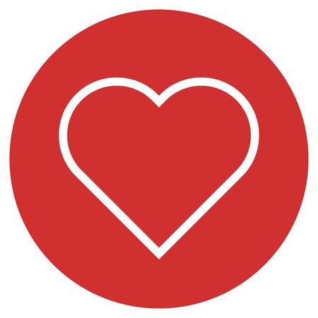 Heart outline icon, modern minimal flat design style. Love symbol, vector illustration