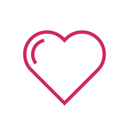 heart outline: Heart outline icon, modern minimal flat design style. Love symbol, vector illustration