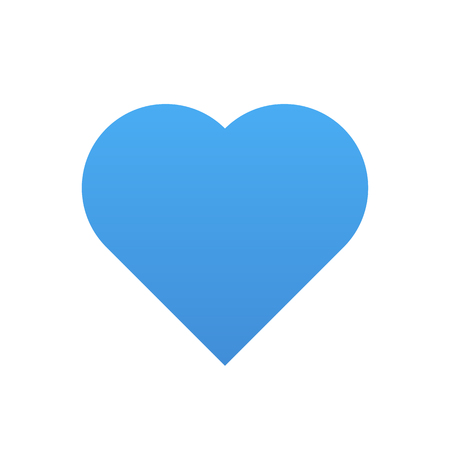 Blue heart vector icon, modern minimal flat design style 矢量图像