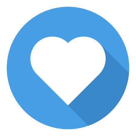 corazones azules: Icono del coraz�n, el estilo de dise�o plano minimalista moderno, ilustraci�n vectorial
