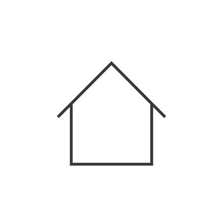 ホーム概要アイコン、モダンなミニマルなフラット デザイン スタイル、家細い線のシンボル、ベクトル イラスト