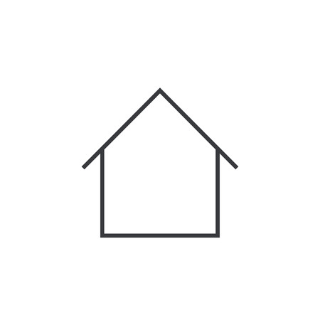 Home outline icon, modern minimal flat design style, house thin line symbol, vector illustration