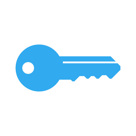 key: Key icon, modern minimal flat design style, vector illustration