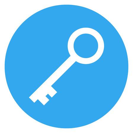 Key icon, modern minimal flat design style, vector illustration