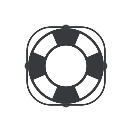 life belt: Lifebuoy icon, modern minimal flat design style. Life belt vector illustration