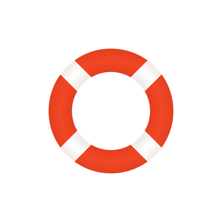 lifebelt: Lifebuoy icon, modern minimal flat design style. Life belt vector illustration