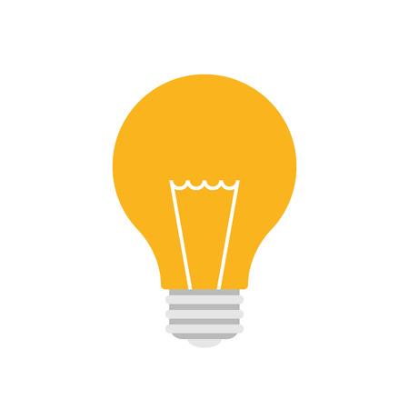 Light bulb icon, modern minimal flat design style, vector illustration
