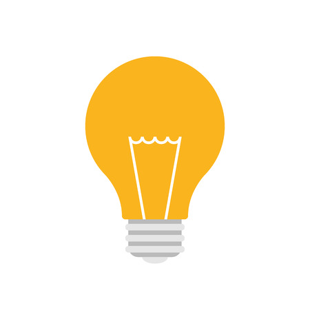 by light: Light bulb icon, modern minimal flat design style, vector illustration