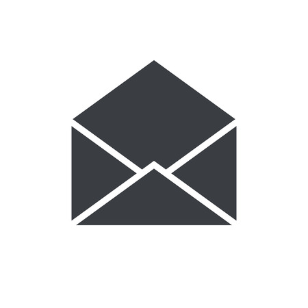 Open envelope icon, modern minimal flat design style, mail vector symbol