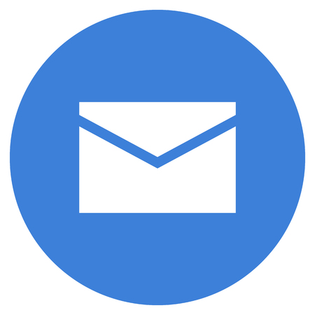 Mail envelope icon, modern minimal flat design style, vector illustration 矢量图像