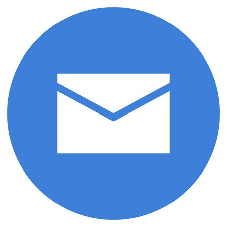 Mail envelope icon, modern minimal flat design style, vector illustration Illustration