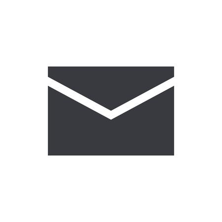 Mail envelop pictogram, modern minimalistisch vlakke stijl, vector illustratie Stock Illustratie