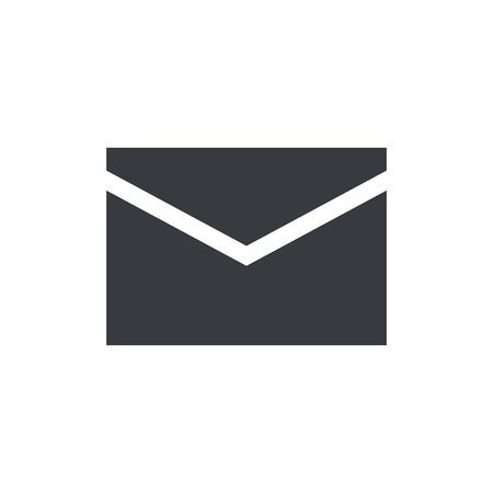 Mail envelope icon, modern minimal flat design style, vector illustration 向量圖像
