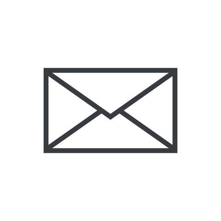メール封筒概要アイコン、モダンなミニマルなフラット デザイン スタイル、ベクトル イラスト