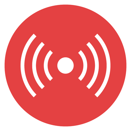 radio waves: Wifi wireless signal icon, radio waves symbol. Vector illustration, modern minimal flat design style