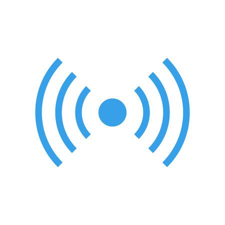Wifi-Signal-Symbol, Radiowellen-Symbol. Vektor-Illustration, modern minimal flache Design-Stil