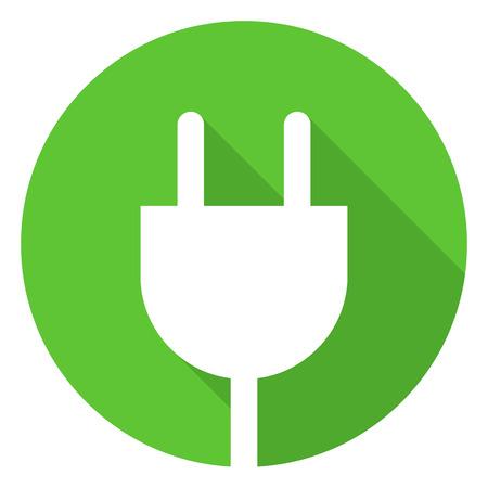 power cord: Electrical plug icon, modern minimal flat design style, vector illustration