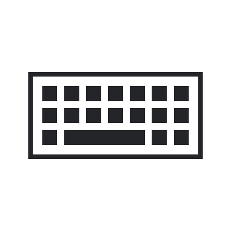 input devices: Computer keyboard icon, modern minimal flat design style, vector illustration