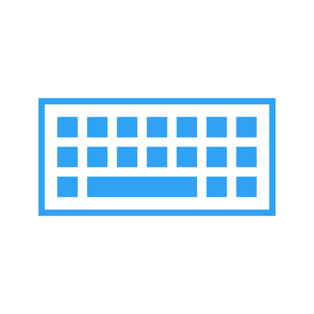 input device: Computer keyboard icon, modern minimal flat design style, vector illustration