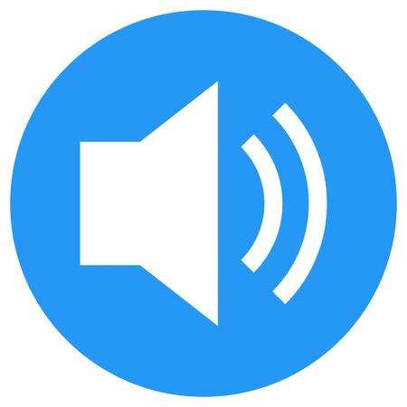 Sound icon, speaker volume vector symbol, modern minimal flat design style