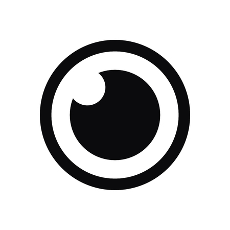 regards: ic�ne Eye, style moderne de design plat minimal, symbole vecteur Illustration