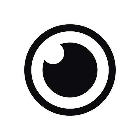 globo ocular: icono del ojo, el estilo de diseño plano mínimo moderno, símbolo del vector