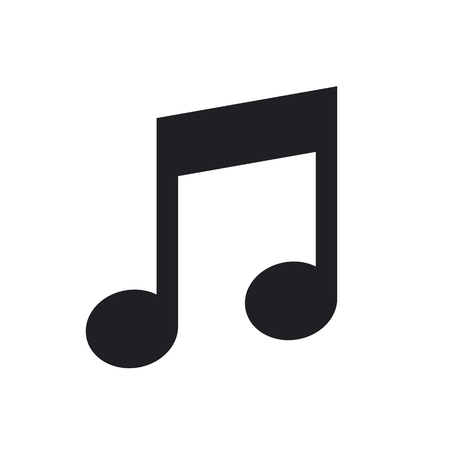 minimal: Musical note icon, modern minimal flat design style, vector illustration