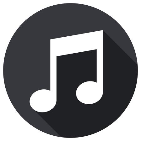 Musical note icon, modern minimal flat design style, vector illustration