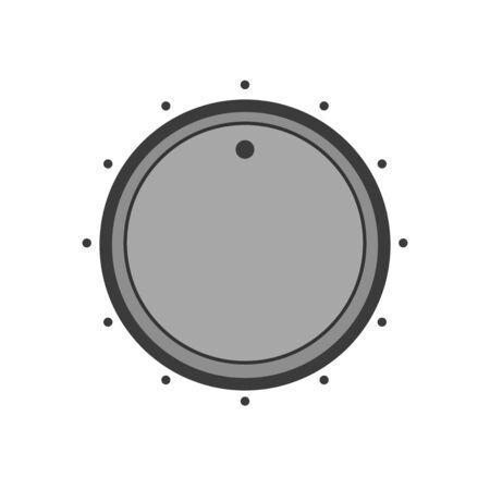 Dial knob. Vector web icon in minimalistic flat design style. UI control knob.