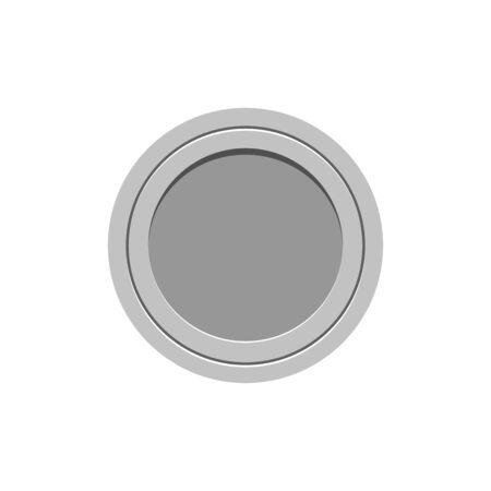 Button icon. UI web element. Minimalistic flat design style vector illustration.