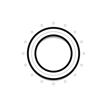 UI round element. Minimalistic vector illustration in flat design style. Dial knob.  イラスト・ベクター素材