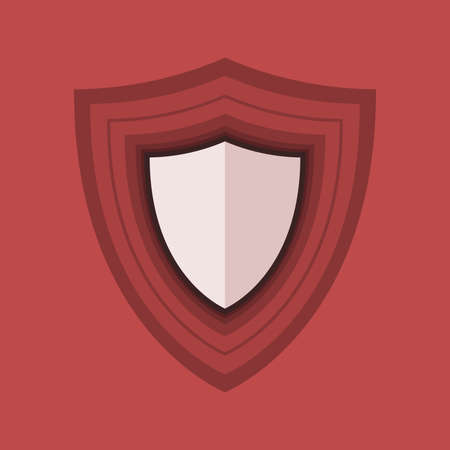 Shield icon in flat design style. Protection abstract vector symbol