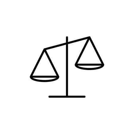Libra line icon in flat design style. Scales linear vector symbol. Editable stroke