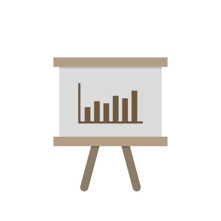 Presentation whiteboard icon in flat design style. Vector illustration 矢量图像