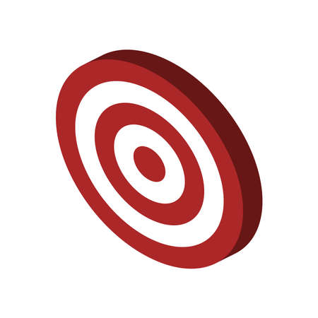 Target 3d isometric icon. Dartboard vector illustration
