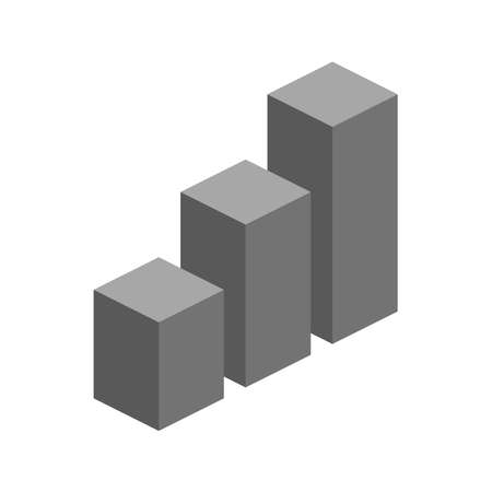 Isometric cubes. 3d graph vector illustration 矢量图像