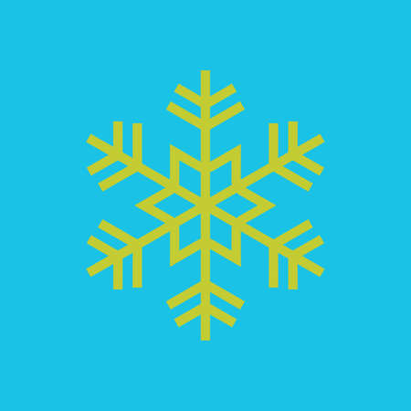Snowflake icon, flat design style. Vector illustration